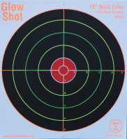 Load image into Gallery viewer, GlowShot 10″ Heavy Card Reactive Splatter Shooting Targets, Multi Colour