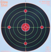 Load image into Gallery viewer, GlowShot 12″ Heavy Card Reactive Splatter Shooting Targets, Multi Colour