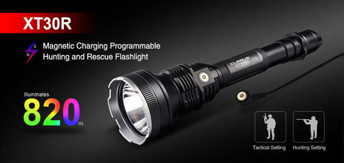 Klarus XTR30 hunting torch kit & accessories / 1800 LM 4000K temp 820 Metre throw
