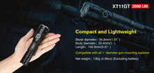 Load image into Gallery viewer, Klarus XT11GT 2000 Lumens torch with battery, USB magnetic charger cable, semi spot