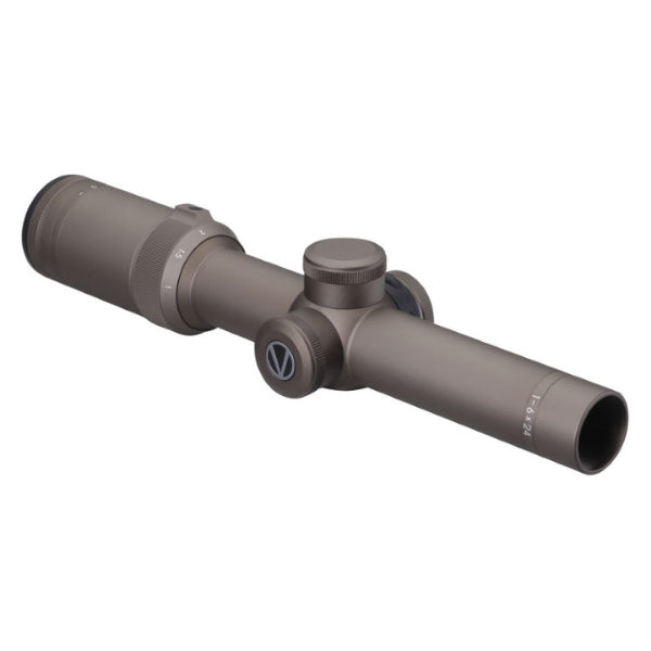 Vixen Tactical Riflescope 1-6x24mm 30mm w/0+(Zero Plus red/green illuminated reticule) Dark Earth Finish. MADE IN JAPAN
