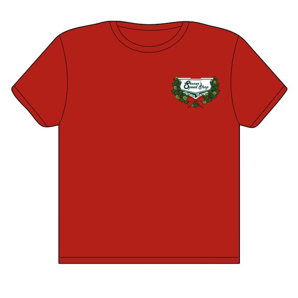 Stoner's Speed Shop Red Carryall Christmas T-Shirt