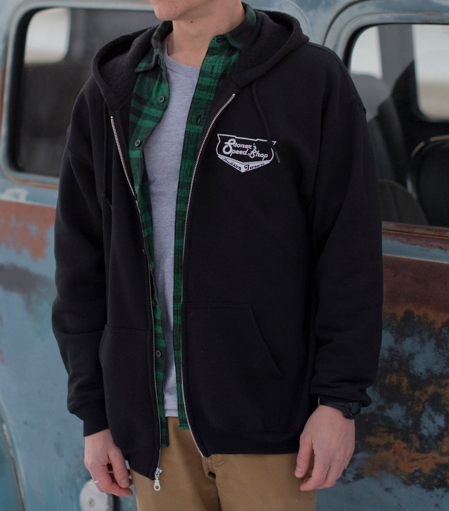 Stoner's Speed Shop Black Zip Up Hoodie
