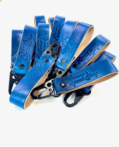 Blue Stoner's Speed Shop Keychain by DeVille
