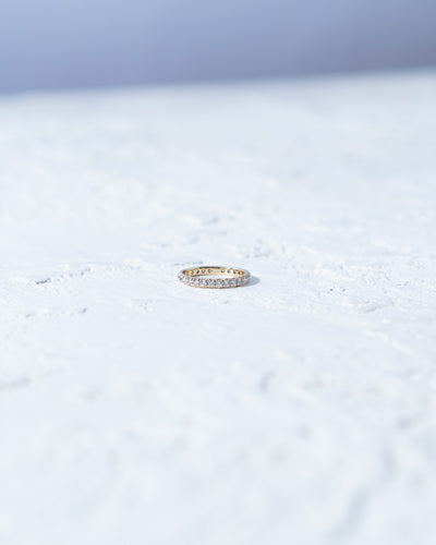 French Pave Eternity Ring