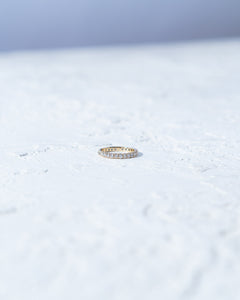 French Pave Eternity Ring - READY TO SHIP