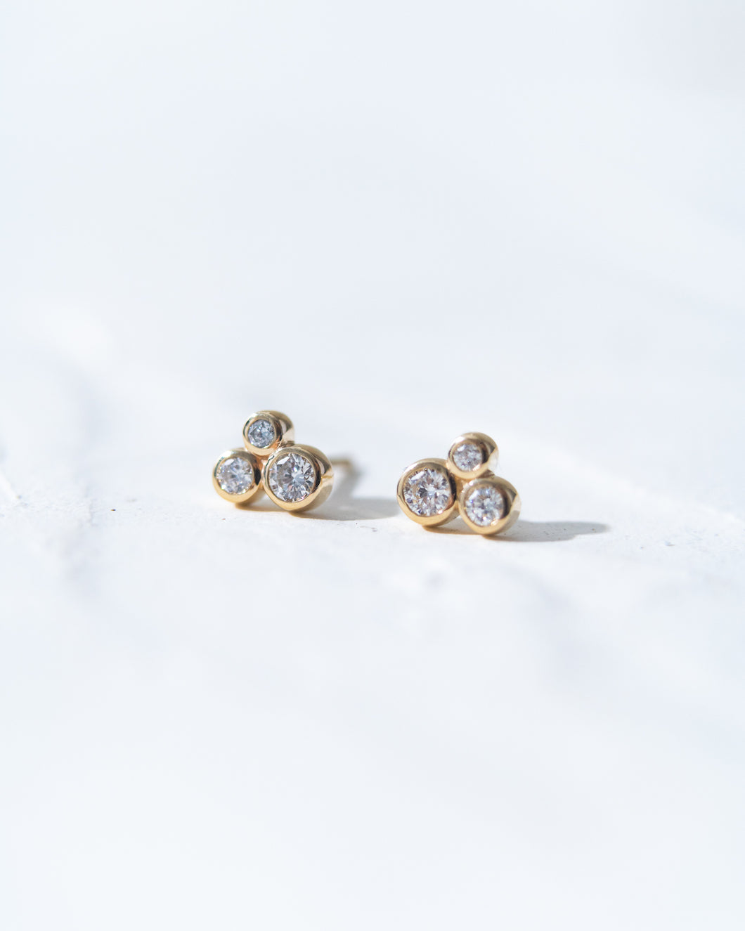 Diamond Cluster Earrings - READY TO SHIP