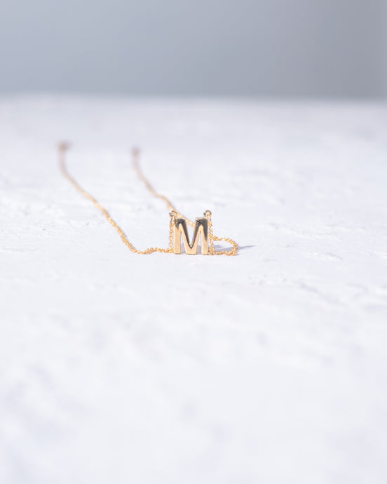 'M' Letter Necklace - READY TO SHIP