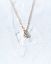Load image into Gallery viewer, Petite Diamond Dangle Necklace - READY TO SHIP
