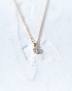Petite Diamond Dangle Necklace - READY TO SHIP