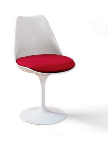 4 Eero Saarinen Tulip Side Chair & 48 Inch Round Dining Table - Bauhaus 2 Your House