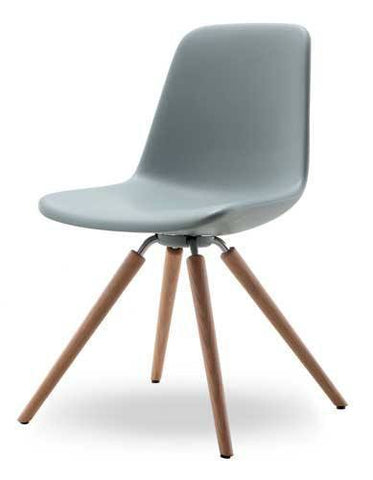 Step Chair Soft Touch Wood Base by Tonon - Bauhaus 2 Your House
