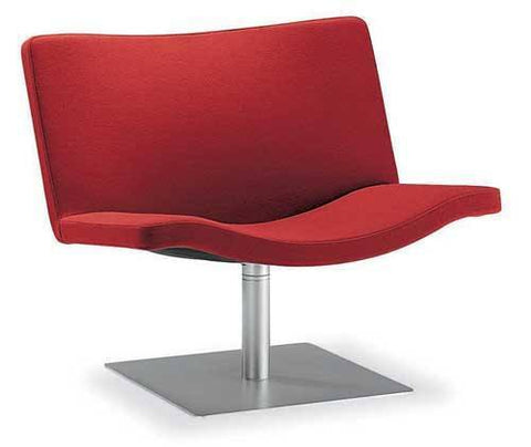 Wave Lounge Chair with Square Base by Tonon