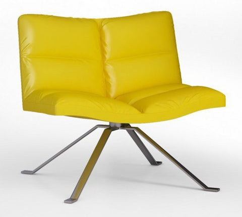 Wave Soft Lounge Chair with Spider Base by Tonon