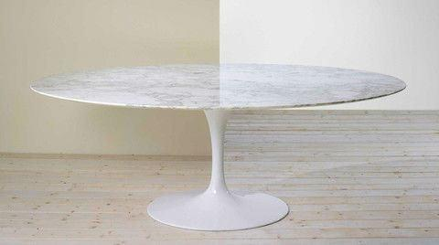 Eero Saarinen Tulip  Table - Oval Tulip Dining 48 x 78 Inch - Bauhaus 2 Your House