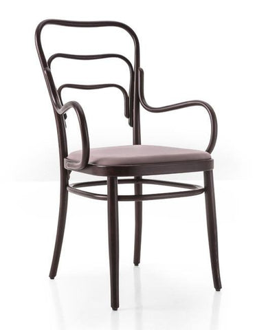 Gebruder Thonet Vienna 144 Bentwood Armchair (Upholstered) by GTV - Bauhaus 2 Your House