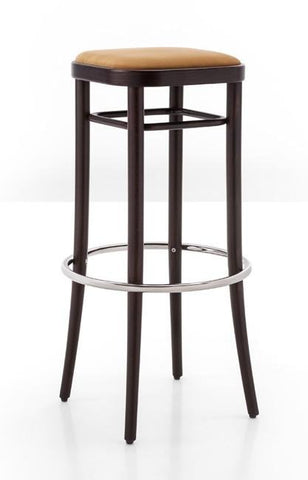 Gebruder Thonet Vienna 144 Bentwood Bar Stool (Upholstered) by GTV - Bauhaus 2 Your House