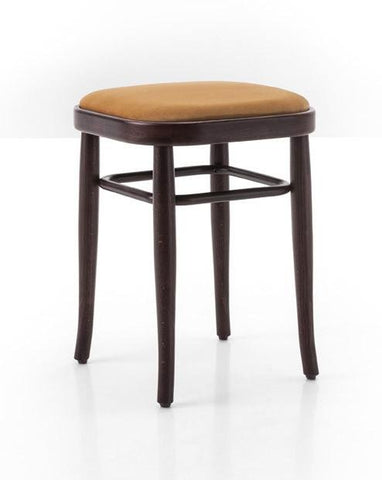 Gebruder Thonet Vienna 144 Bentwood Stool (Upholstered) by GTV - Bauhaus 2 Your House