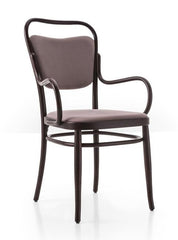 Gebruder Thonet Vienna 144 Closed Back Bentwood Armchair (Upholstered) by GTV - Bauhaus 2 Your House