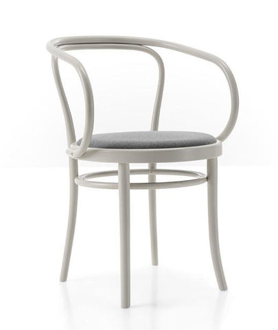 Gebruder Thonet Wiener Stuhl Bentwood Armchair with Upholstered Seat by GTV - Bauhaus 2 Your House