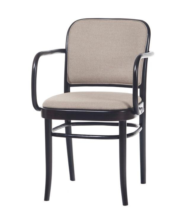 Josef Hoffmann B811 Bentwood Chair With Upholstered Sea