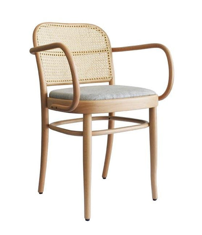 Joseph Hoffmann No 811 Upholstered Seat Bentwood Armchair by GTV - Bauhaus 2 Your House