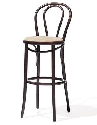 Michael Thonet A18 Bentwood Stool (Upholstered) - Bauhaus 2 Your House