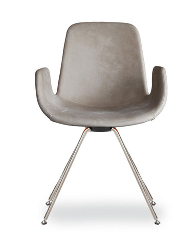 Step Armchair Upholstered with Steel Base by Tonon - Bauhaus 2 Your House