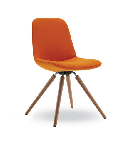 Step Chair 904 Upholstered with Wood Base by Tonon - Bauhaus 2 Your House