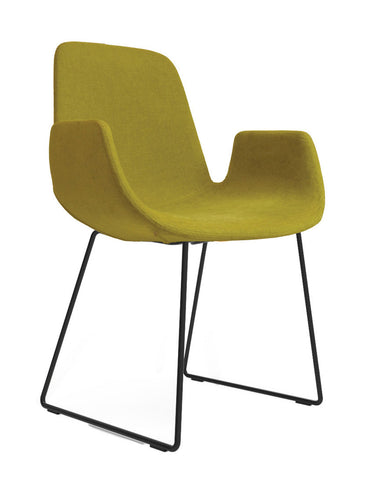Step Armchair Upholstered with Sled Base by Tonon - Bauhaus 2 Your House