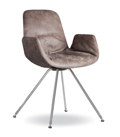 Step Armchair Soft Upholstered with Steel Base by Tonon - Bauhaus 2 Your House