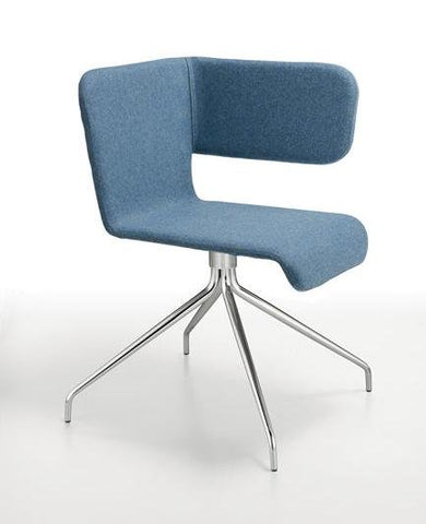 Twiss Chair Upholstered with Trestle Base - Bauhaus 2 Your House