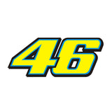 Valentino Rossi 46 Bike Stickers (Yellow)