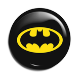 Batman Black Round Button Badge