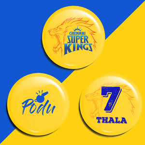 CSK Whistle Podu Badge (Pack of 3)