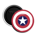 Captain America Round Pin Badge (Red)