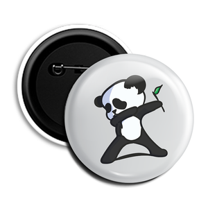 Dabbing Panda Round Pin Badge