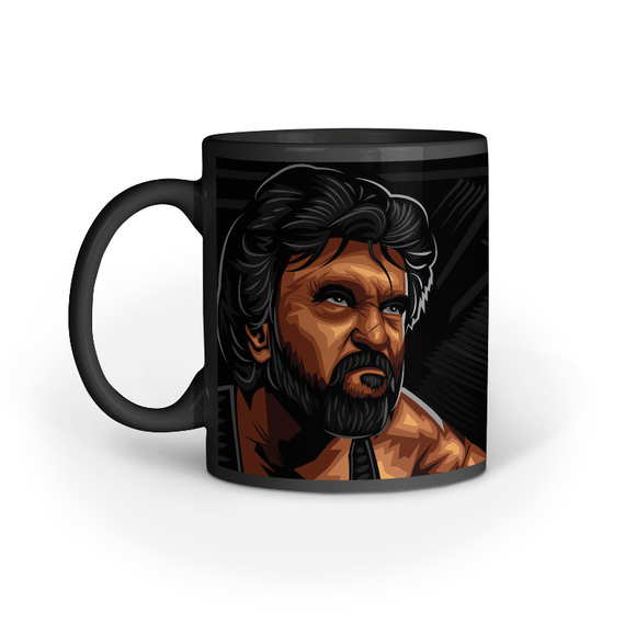 Darbar Rajini black coffee mug