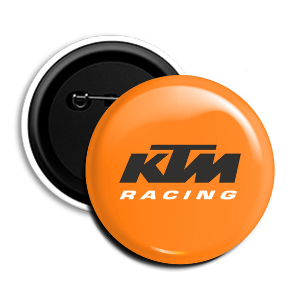 KTM Round Pin Badge (Orange)