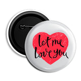 Marshmello Let Me Love You Badge (White)