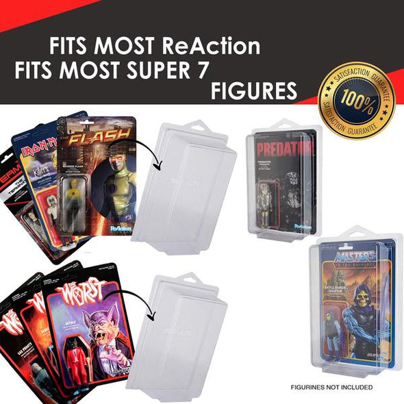 Star Wars & Gi-Joe Carded Action Figures Storage/Display - Pack of 25