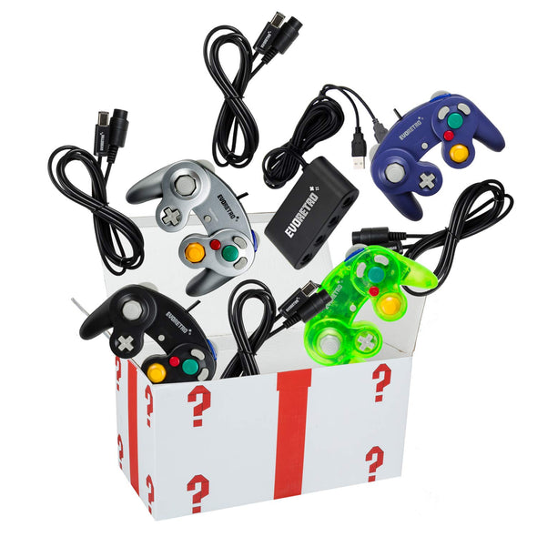Nintendo Switch Smash Bro Bundle for Mario Cart - 4 Gamecube controllers & 1 Switch Adaptor