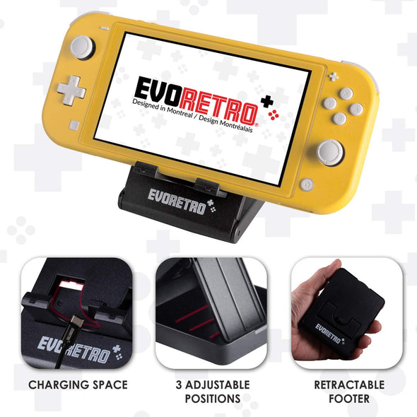 Protective Starter Kit for Nintendo Switch Lite with Tempered Glass Screen Protector, Travel Case, Foldable Stand, and more