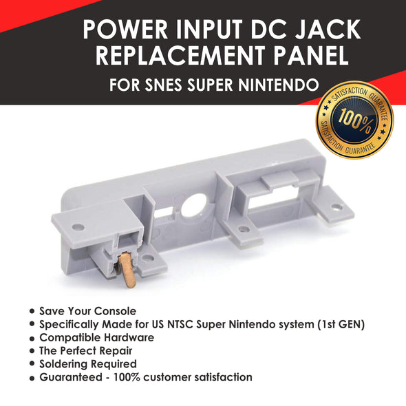 Power Input DC Jack Replacement Panel for SNES Super Nintendo