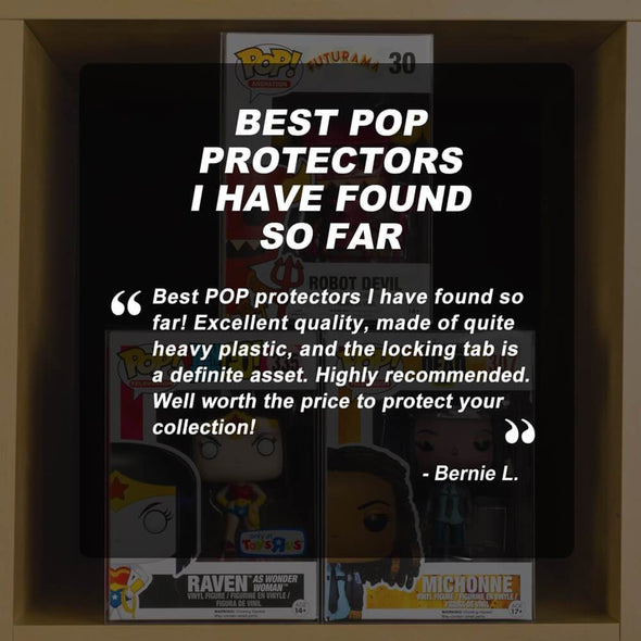 Funko Pop 4 Inches - PET Protector Display Case - Pack of 10