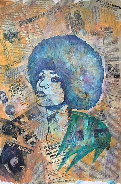 Headliners: Angela Davis - 20x30 FRAMED FINE ART PAPER