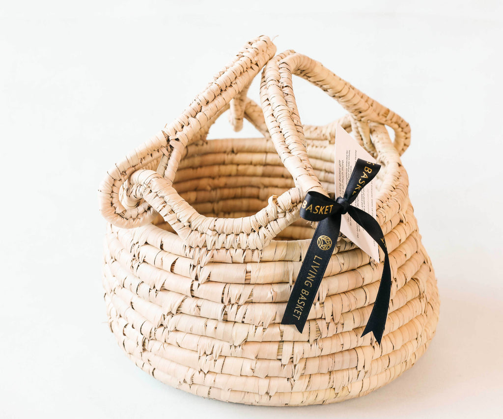 SIGNATURE HANDCRAFTED DATE LEAF BASKET