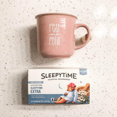 Rest and Refill Mug and Sleepytime Te