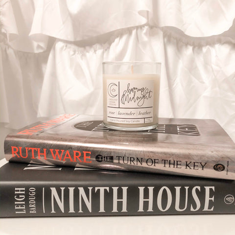 Books and Candle for Cozy Fall Self-Care Night