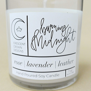 Burning Midnight | 7 oz Soy Wax Candle